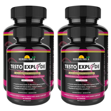 Testo Xplode Testosterone Booster for Men- 4 Bottles