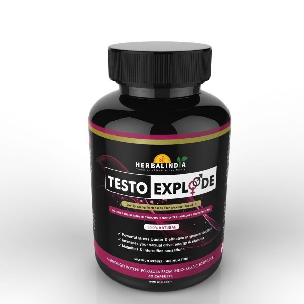 Testo Xplode Testosterone Booster for Men- 2 Bottles